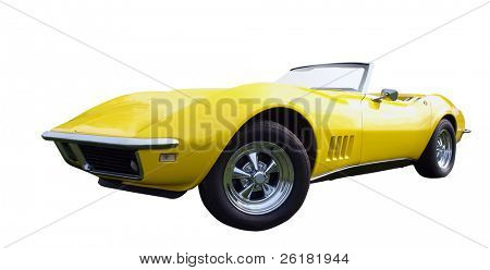 1968 Chevrolet Corvette isolated with clipping path