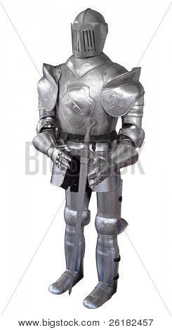 Suit of Armour isolated with clipping path