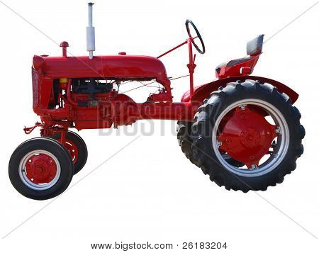 Vintage Farmall Cub isolated with clipping path