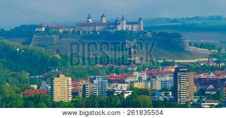 Travel Cityscpae Skyline Wuerzburg Bavaria Germany Europe