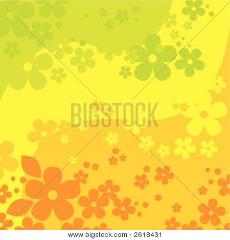 Abstract Flowers Background (Vector Or Xxl Jpeg Image)