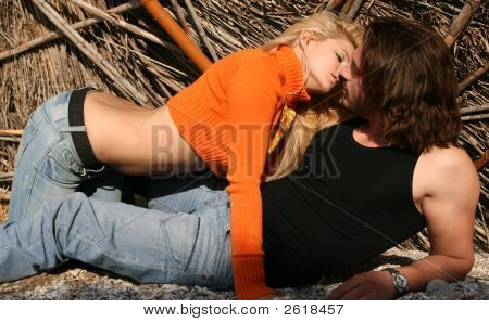 Couple In A Romantic Pose