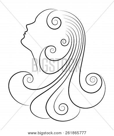 Beautiful Woman Head Vector & Photo (Free Trial) | Bigstock