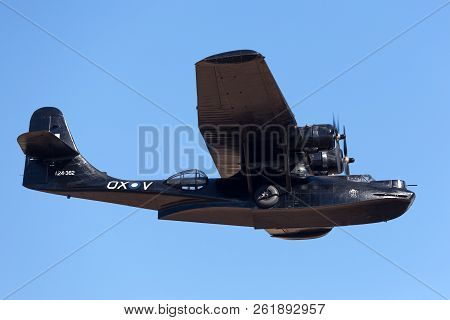 Avalon, Australia - March 2, 2013: Consolidated Pby Catalina Flying Boat Vh-pbz Wearing The Famous B