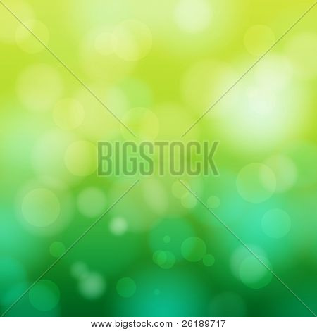 EPS 10 Green bokeh abstract light background - Vector illustration