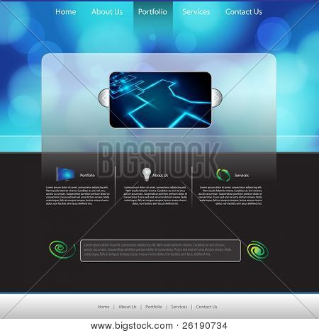 EPS10 Colorful Web Page Layout Vector