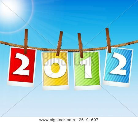 2012 New Year's Eve Greeting Vector Card