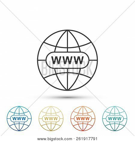 Go To Web Icon Isolated On White Background. Www Icon. Website Pictogram. World Wide Web Symbol. Int
