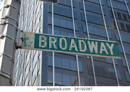 broadway street sign; Manhattan new york city