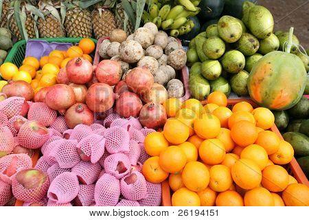 A display of fruit on a Sri Lanka vendor's stall