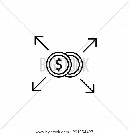 Business Diversification, Investment Concept, Financing Balance Icon. Element Of Money Diversificati