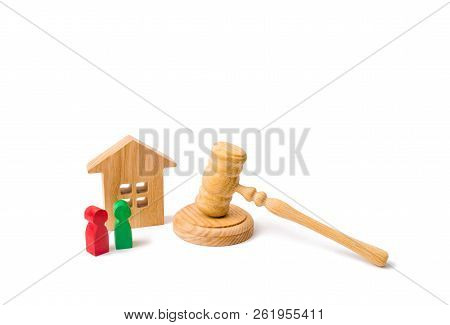 The Concept Of Laws And Regulations For Tenants And Owners Of A Residential Building. Wooden Apartme