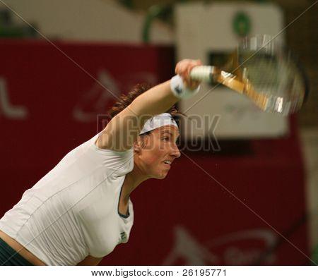 Svetlana Kuznetsova in action at the Qatar Total Open, March 2007