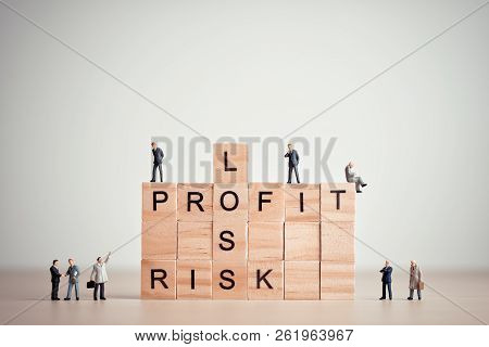 Loss, Profit And Risk. Business Concept. Close Up