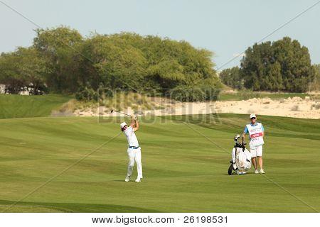DOHA, QATAR - February 6: Swedish golfer Johan Edfors in action at the Commercial bank Qatar Masters, at the Doha Golf Club, February 6, 2011