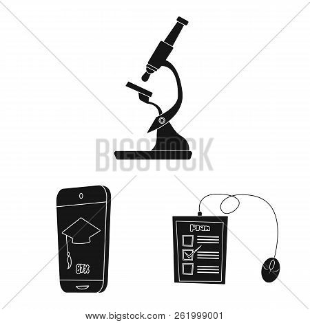 Isolated Object Of Education And Learning Icon. Collection Of Education And School Stock Vector Illu