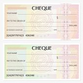 Check (cheque), Chequebook template. Guilloche pattern with abstract watermark. Background for banknote, money design, currency, bank note, money, Voucher, Gift certificate, coupon, ticket, visa poster