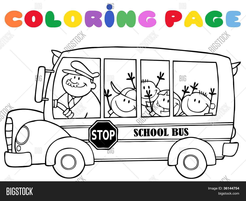 Vistoso Pagina Para Colorear De Autobus Colección de Imágenes ...