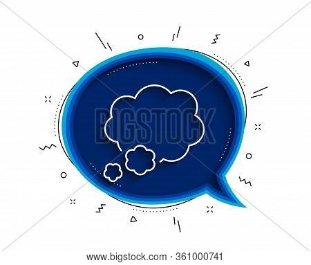 Talk Bubble Line Icon. Chat Bubble With Shadow. Speech Bubble Sign. Chat Message Symbol. Thin Line T