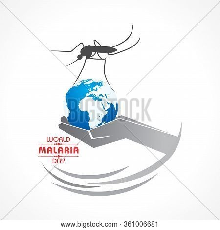 World Malaria Day Vector Illustration - 25 April, Suitable For Greeting Card, Poster And Banner.