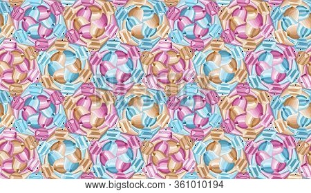 Seamless Pattern With Bright Abstract Scalars, Tessellation. Vector Illustration Eps 10