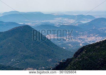 Summer In National Park La Sierra De Grazalema, Andalusian White Villages Touristic Route In Spain