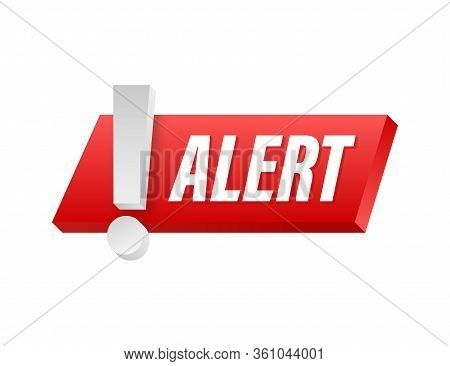 Alert Sign. Attention Warning Attacker Alert Sign. Technology Cyber Security Protection Concept. Vec