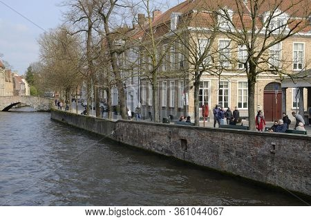 Footpath Along The Canal In Brugge