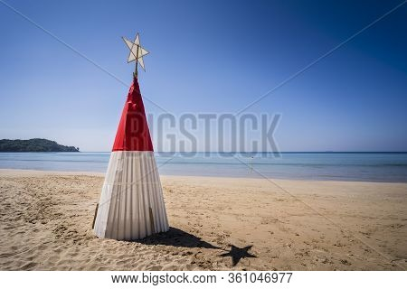 Christmas Tree On Long Beach, Phra Ae Beach, Ko Lanta Island, Krabi, Thailand, Southeast Asia