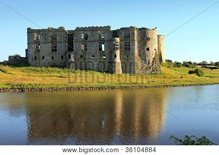 Carew Castle Reflection
