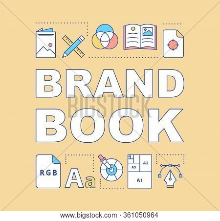 Brand Book Word Concepts Banner. Official Company Document. Brand Concept, Attributes Description. P