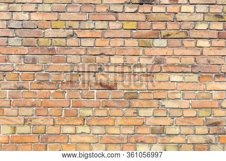 Background Of Old Vintage Brick Wall. Grunge.