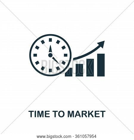 Time To Market Icon. Simple Element From Intellectual Property Collection. Filled Time To Market Ico