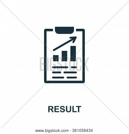Result Icon. Simple Element From Consulting Collection. Filled Result Icon For Templates, Infographi