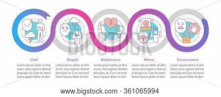 Hard Feelings Vector Infographic Template. Grief, Despair, Helplessness. Business Presentation Desig
