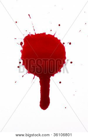 A high resolution image of a blood drip poster