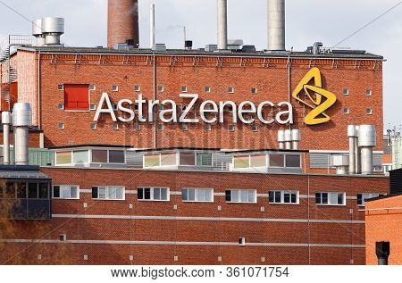 Sodertalje, Sweden - April 13, 2020: Extrior View Of The Multinational Pharmaceutical And Biopharmac