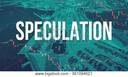 Speculation Theme With Us Shipping Port In Oakland, Ca