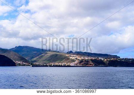Magnificent Views From The High Seas Of The Island Of La Gomera. April 15, 2019. La Gomera, Santa Cr