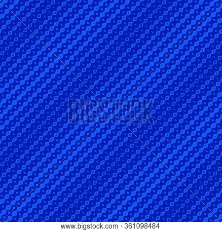 Vector Halftone Geometric Seamless Pattern With Diamond Shapes, Fading Rhombuses. Abstract Backgroun