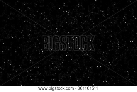 Space Background. Dark Infinite Universe With Shining Stars And Constellations. Starry Cosmos. Reali