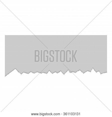 Vintage Paper Art Illustration With Ripped Paper Design On White Background. Vector Flat Illustratio
