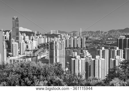 Skyline Of Midtown Of Hong Kong City