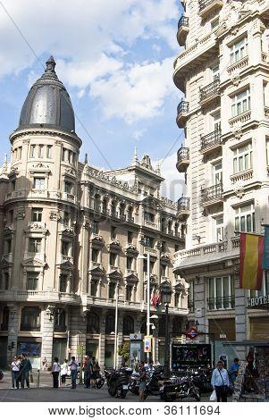 Building At The Gran Via.madrid, Spain.