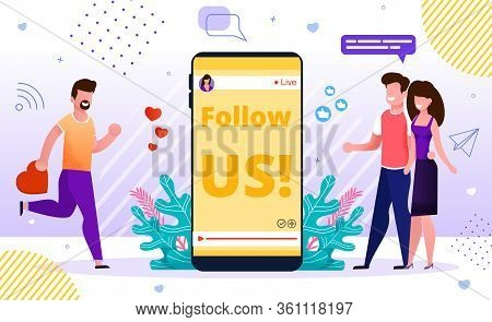 Internet Blog Online Advertisement Smm Banner. Influencer Marketing Strategy, Social Media Network P