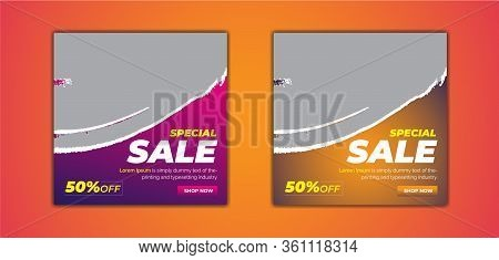 Super Sale Social Media Post Template .Promotional web banner for social media. Elegant sale and discount promo.Suitable for social media post and web internet ads.Templates for web standard size. Delicious Food Social media post Design template for vecto