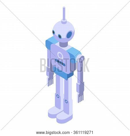 Humanoid Icon. Isometric Of Humanoid Vector Icon For Web Design Isolated On White Background