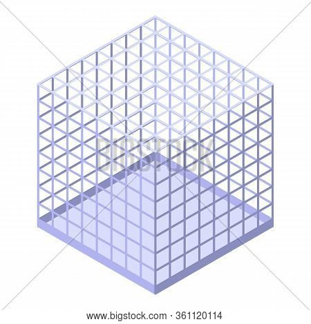 Wizard Steel Cage Icon. Isometric Of Wizard Steel Cage Vector Icon For Web Design Isolated On White