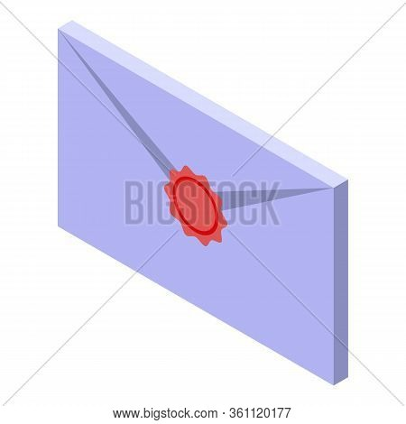Wizard Old Letter Icon. Isometric Of Wizard Old Letter Vector Icon For Web Design Isolated On White