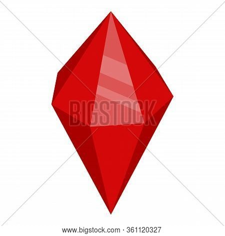 Magic Ruby Stone Icon. Isometric Of Magic Ruby Stone Vector Icon For Web Design Isolated On White Ba